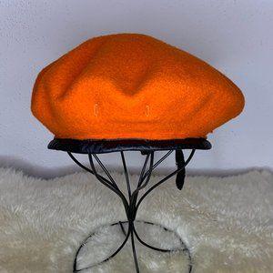 Fostex 100% Wool Military Beret in Orange